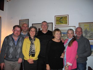 Committee members (from left): Jesper Sander Pedersen, Neil Hesteth, Joanna Styles, Martyn Wood, Liz Parry, Sally Harrison and Peter Leonard