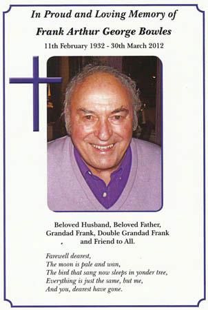 Frank Bowles in Memoriam