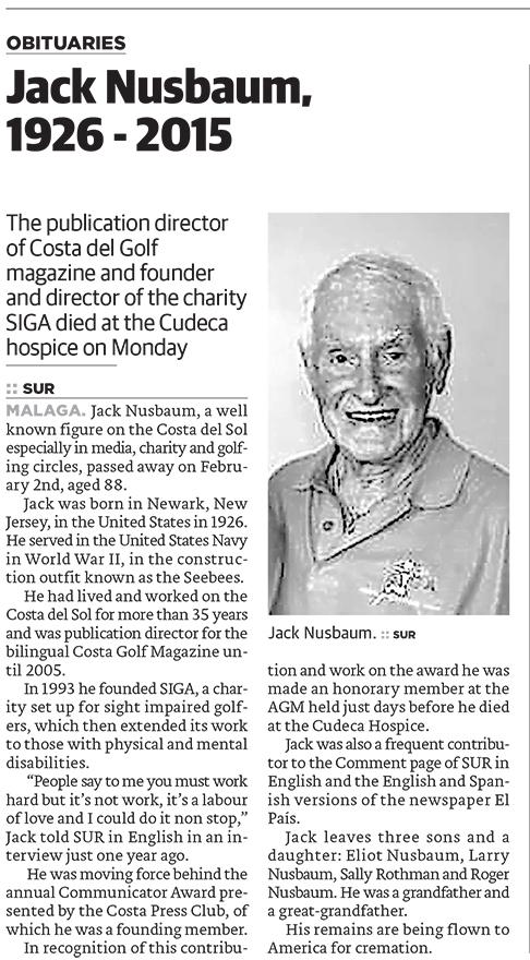 Jack Nusbaum in Memoriam