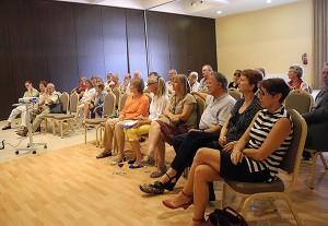 Audience at social media workshop