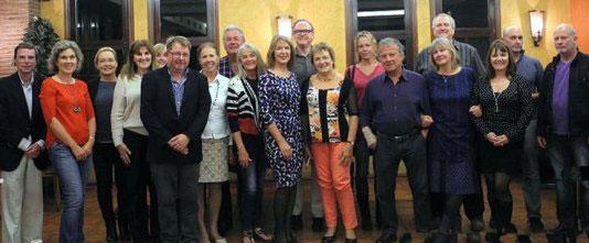Los miembros del Costa Press Club bienvenidos Director del Patronato de Turismo de la Costa del a uno de sus reuniones regulares
